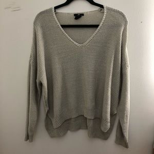 Beige waffle knit sweater
